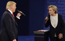 """""""Отморозок, отвали от меня!"""" - американские СМИ переполошились из-за скандальной перепалки Трампа и Хиллари Клинтон - кадры"""