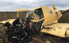 Падение самолета в Хмельницкой области: в полиции озвучили первые подробности - в Сети появились жуткие фото и видеокадры