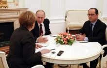 """В Кремле заявили, что без согласия Порошенко Путин склонил Меркель и Олланда поддержать быстрый обмен заложников в формате """"все на всех"""""""