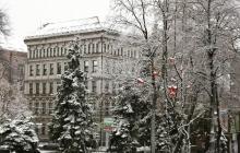 В Днепре выпал первый снег, подарив жителям города зимнее настроение и красивые виды: яркие кадры в Сети