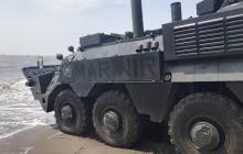 ВСУ показали видео испытаний новейшего украинского бронетранспортера-амфибии БТР-4М - опубликованы впечатляющие кадры