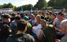 В Москве крупная драка между десантниками и Росгвардией: один из ВДВшников ударил росгвардейца