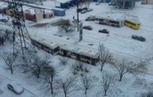 Погода одолела оккупантов Крыма: снег в захваченном Симферополе вызвал транспортный коллапс - кадры