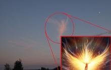 Над Россией увидели ангела, появление которого предрекло падение раскаленных кусков плазмы