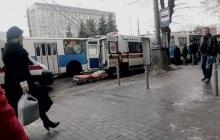 Первые кадры из Винницы после взрыва в троллейбусе: у пострадавших переломы и травмы