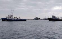 """""""Яны Капу"""", """"Бердянск"""" и """"Никополь"""" плывут домой - россияне вывели корабли из Керчи"""