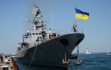 """Украинские корабли """"Донбасс"""" и """"Корец"""" прошли через границу агрессора и оказались в Мариуполе – кадры"""