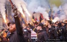 В Киеве на Марше УПА звучит знаменитая кричалка о Путине: на Европейской площади уже 10 тысяч человек - видео