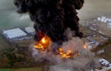 ГСЧС: Под Кременчугом взорвался нефтяной завод