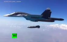 Путин перед встречей с Помпео громыхнул 1,5-тонной авиабомбой - нашумевшие кадры с ударом Су-34