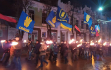 Переживший оккупацию Славянск отмечает день рождения Бандеры - кадры факельного шествия