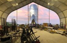 SpaceX показала первые фотографии прототипа своего межпланетного корабля Starship