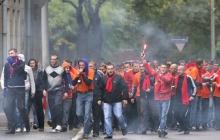 Массовая драка футбольных фанатов в Киеве: задержаны около 30 человек - кадры