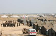ЧП под Николаевом: на военном полигоне загорелись палатки c военнослужащими - Минобороны