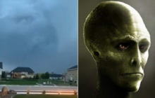 В небе появился зловещий знак о конце света: гуманоид с Нибиру показался после молнии и шокировал очевидцев - видео