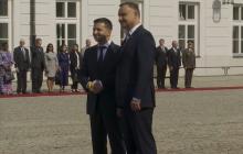 Анджей Дуда встречает Владимира Зеленского в Варшаве: онлайн-трансляция визита
