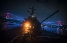 """""""Гроза морей"""" эсминец ВМС США Donald Cook, всполошивший Москву, вошел в Черное море - кадры"""
