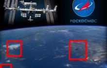 Ракета-носитель ʺСоюз-2.1аʺ окружена тремя НЛО, которые готовятся атаковать Землю