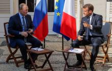 """Макрон пообещал Путину вернуть Россию в """"Большую восьмерку"""" при одном условии"""