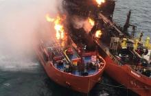 Танкеры в Керченском проливе пылают десятый день: оккупанты не справляются с интенсивным огнем - кадры