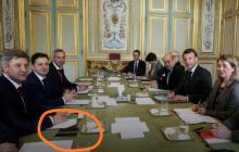 """Зеленский """"отчебучил"""" в Париже: соцсети заметили вопиющее нарушение на встрече кандидата с Макроном"""