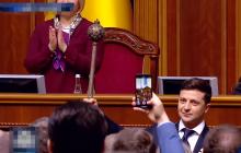 Зеленский обратился к Путину на русском прямо во время инаугурации