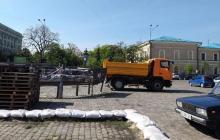 В Харькове сносят палатку воинов АТО и готовятся к нарушениям порядка: кадры