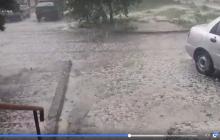 """Крупный град """"атаковал"""" Черкассы: к ледяному дождю стоит приготовиться еще 4 регионам Украины - кадры"""