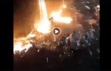 """Адские кадры аварии на """"Азовстали"""": 2000 тонн раскаленного чугуна затопили цех с работниками"""