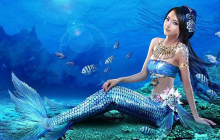 Мертвое тело русалки выкинуло из глубин океана - фото