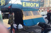"""Харьков """"запылал"""", начались поджоги: палатка волонтеров АТО сожжена дотла - кадры"""