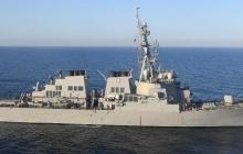 Российские истребители нанесли условный удар по эсминцу USS Porter в Черном море