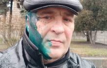"""""""Ты людей сдавал в 14-м году, па**а!"""" - в Харькове плеснули зеленкой в лицо пропагандисту Бородавке"""