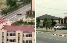 В Грозном возле дома Кадырова стрельба: есть убитый и раненые - первые кадры