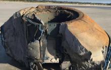 В Подмосковье рухнул бетонный фрагмент корабля пришельцев, который сбили военнослужащие