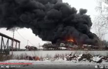 В России вспыхнул огромный пожар на крупном заводе: все в черном дыму, слышны взрывы
