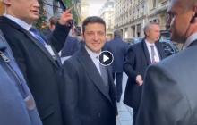"""На видео попал знаковый момент с Зеленским перед встречей с Путиным в Париже: """"Поехали!"""""""