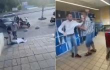 Под Киевом в супермаркете мужчину без маски избили палкой колбасы: у видео с дракой неожиданный финал