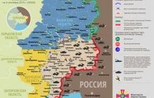 Карта АТО: Расположение сил в Донбассе от 05.09.2015