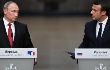 """Путин """"сваливает"""" свое нежелание остановить войну в Сирии на Макрона: начальник Кремля воспринял встречу президента Франции с лидером сирийской оппозиции как """"нож в спину"""""""