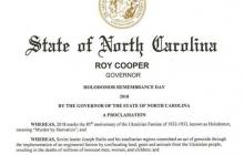 Двадцатый штат США признал Голодомор геноцидом народа Украины: текст решения губернатора Северной Каролины