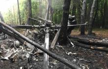 Катастрофа Ми-8 в Ровненской области: опубликованы первые фото с места трагедии