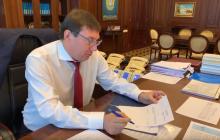 Луценко подал заявление об отставке в прямом эфире Гордона