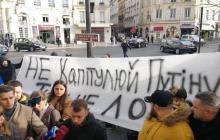 """Ветераны АТО резко обратились к Зеленскому в Париже: """"Пусть докажет, что не лох"""""""
