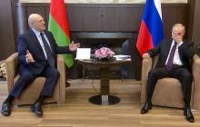 Поведение Лукашенко на встрече с Путиным в Сочи вызвало вопросы: появилось видео