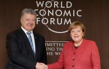 Судьба пленных моряков Украины и агрессия России: Порошенко и Меркель в Давосе договорились о важной стратегии