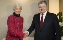 Начались переговоры Петра Порошенко и Кристин Лагард в Давосе. Обсуждают продвижение реформ