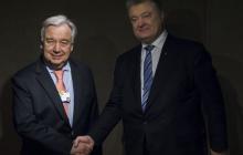 Порошенко и Генсек ООН обсудили возвращение украинских моряков из плена РФ