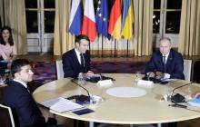 """Переговоры лидеров """"Нормандской четверки"""" завершились, Путину было очень тяжело - источник"""