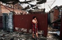 В Донецке в результате боев поврежден жилой дом. Обстановка в городе напряженная